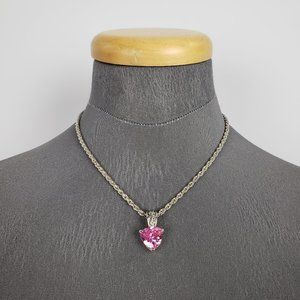 Jewelry - Silver & Pink Pendant Necklace